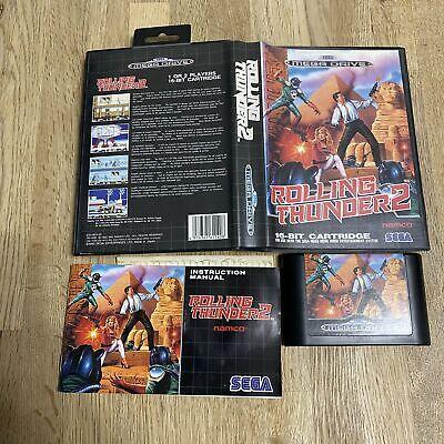 Rolling thunder ii 2 Sega megadrive game complete