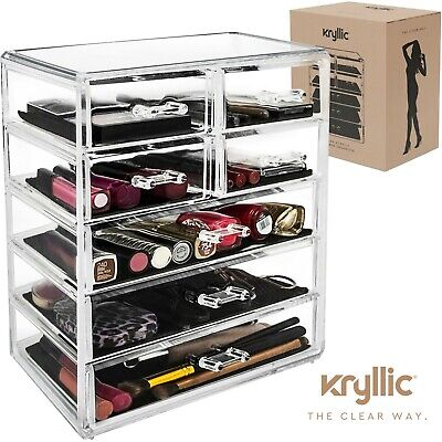 Acrylic organizer Set of 7 Large Drawers for Makeup jewelry Office Supplies.