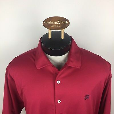 Fennec Mens Short Sleeve Golf Polo Shirt Sz Xxl Red With Logo On Chest