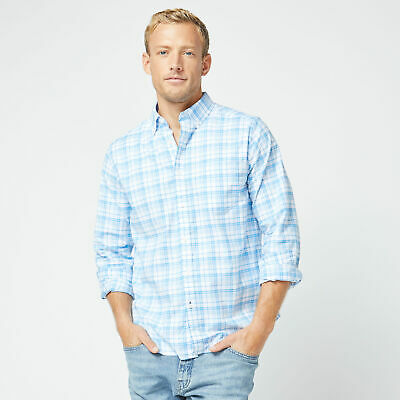 Nautica Mens Classic Fit Long Sleeve Plaid Oxford Shirt