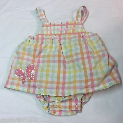 NEW Carters Just One Year Girls 3 months Summer outfit 1 piece Pastel Plaid