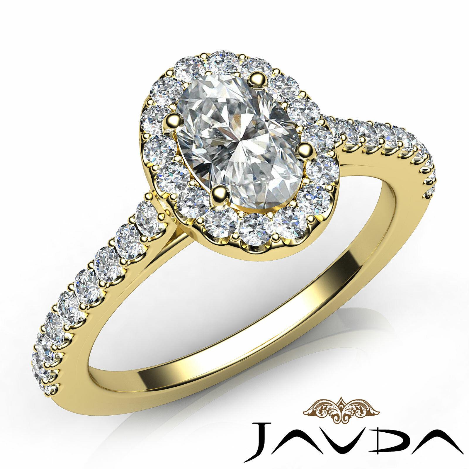 1.6ctw Prong Setting Oval Diamond Engagement Ring GIA H-VS1 White Gold Women New 7