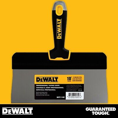 Dewalt Taping Knife 10 Stainless Steel Big Back Drywall Taping Tool