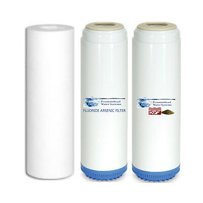 Sediment/Fluoride/Arsenic/Carbon/KDF55 Water Filters Fits Standard Housings