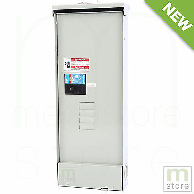 200 Amp Load Center Main Breaker Outdoor Panel Electrical 8-Circuit 4-Space