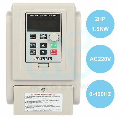 220v 1.5kw Variable Frequency Drive Inverter Vfd Single To 3 Phase Output 2hp