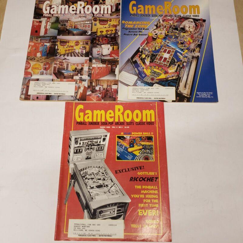 GAMEROOM MAGAZINE 6 Issues Year 1999 Pinball Jukebox Slot Machine Video Arcade