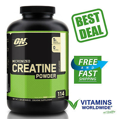 OPTIMUM NUTRITION MICRONIZED CREATINE Monohydrate Powder Unflavored Supplement