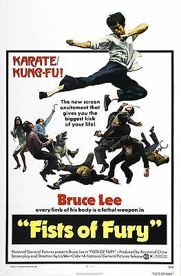 THE BIG BOSS aka FISTS OF FURY Movie Poster Bruce Lee (The Big Boss Aka Fists Of Fury)