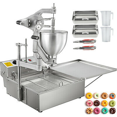 Commercial Automatic Donut Fryer Ball Doughnuts Maker Machine With 3 Mold