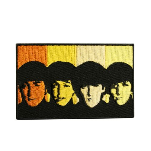 The Beatles Faces Embroidered Iron On Patch -  Licensed 077-C
