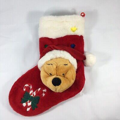 Winnie The Pooh Plush Singing Christmas Stocking Disney Store London