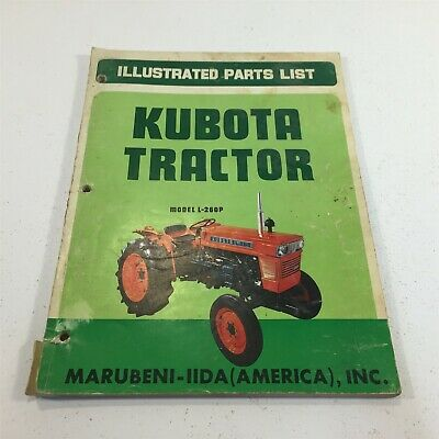 Genuine Kubota Tractor Model L260p Illustrated Parts List Original