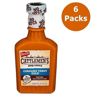(6 pack) Cattlemen's Carolina Tangy Gold BBQ Sauce 18 oz Carolina Bbq Sauce