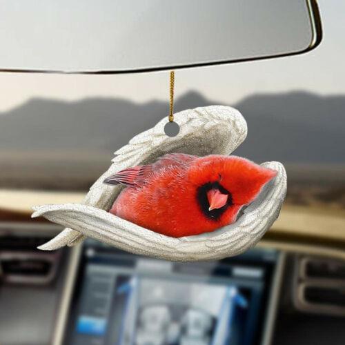 Cardinal sleeping angel Cardinal lovers birds lovers ornament