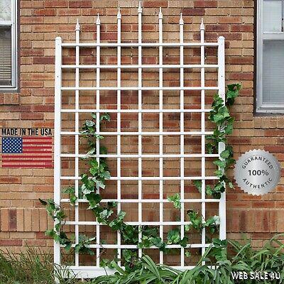 Garden Wall Trellis White Vinyl Climbing Plant Outdoor Yard Deluxe Fence 8' USA  for sale  USA