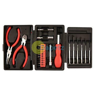 25PC Mini Kit Herramientas Eléctrico Destornilladores de Precisión Pinzas Toma