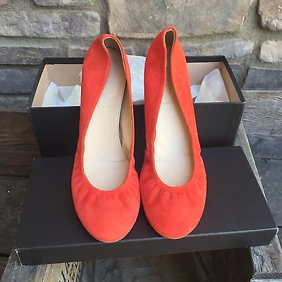 J.Crew Cece Fresh Strawberry  Size 6.5 Ballet  Flats Suede New In Box Made Italy for sale  Medfield