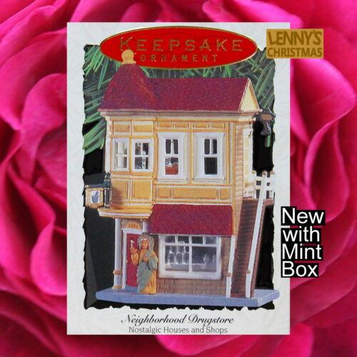 Hallmark Ornament, 1994 Neighborhood Drugstore, Nostalgic Houses and Shops, New