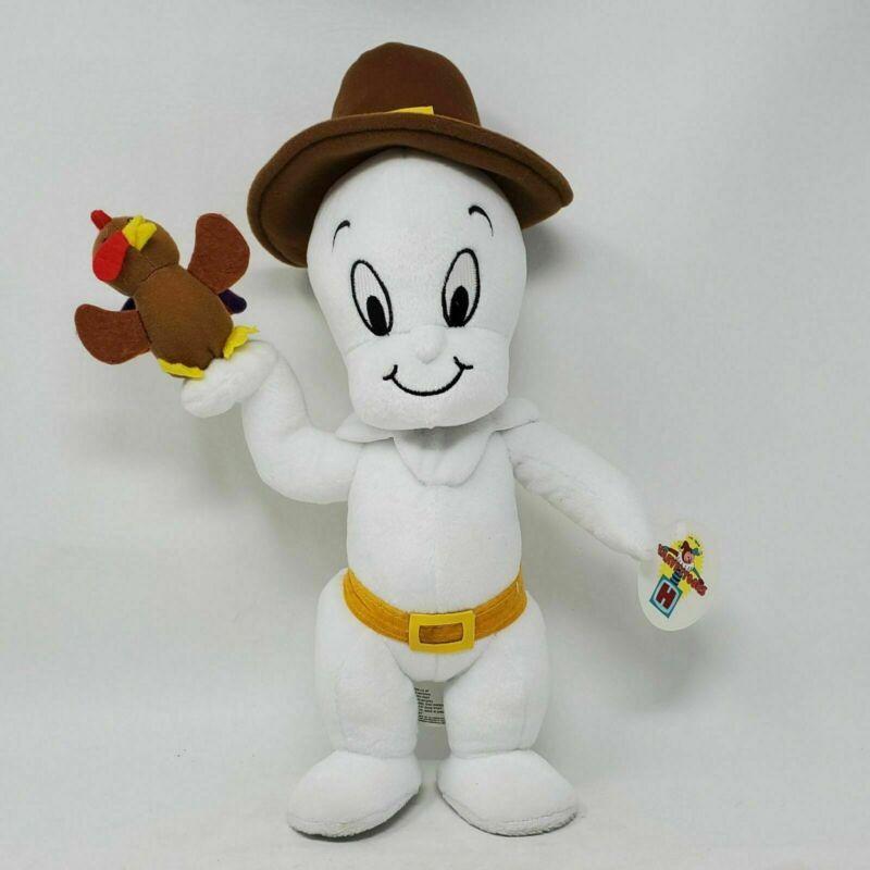 RARE Vintage Harvey Toons Casper The Friendly Ghost Pilgrim w/ Turkey Plush Toy