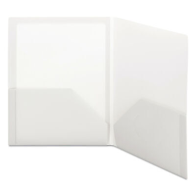 Smead Frame View Poly Two-pocket Folder 11 X 8 12 Clearoyster 5pack
