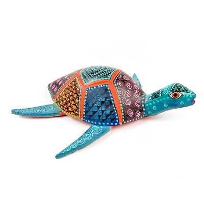 Used, SEA TURTLE Oaxacan Alebrije Animal Wood Carving Mexican Folk Art Sculpture for sale  Shipping to Canada