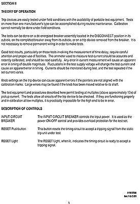 Instruction Manual For Avo Scb-100 Secondary Test Set