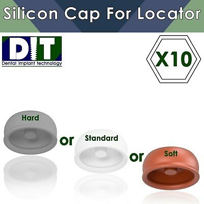 10 X Dental Implant Silicon Housing Cap For Locator Click-attachment Regular
