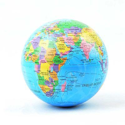 Self Rotating World Globe LED Colour Light Educational Toys Office Desk Gift
