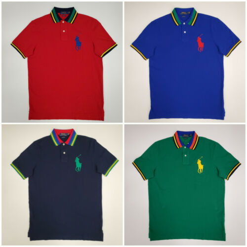 Men Polo Ralph Lauren BIG PONY Mesh Polo Shirt - CLASSIC FIT - S M L XL XXL