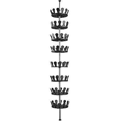 Schuhregal Schuhkarussell Schuhschrank Teleskopregal Schuhständer für 96 Schuhe