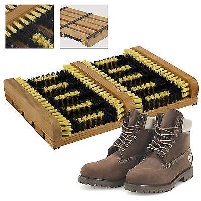 - Heavy Duty Double Shoe Boot Scraper Brush Outdoor Door Mat Wellington Cleaner