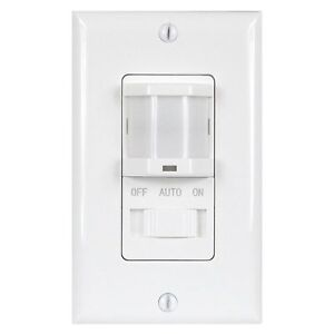 Motion sensor wall switch ebay tsos5 pir motion sensor light switch detector infrared wall occupancy white aloadofball Image collections