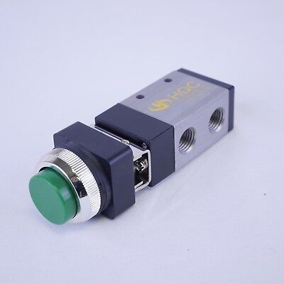 32 Way Pneumatic Valve With Raised Push Button In Green 14 Npt Msv98322ppl