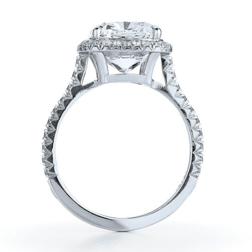 4.21 Carat 18k White Gold Cushion cut Diamond Engagement Ring GIA Certified 2