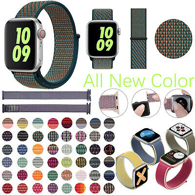 Sport Loop Band Nylon Woven Strap For Apple Watch iWatch Series 5/4/3/21 38-44mm