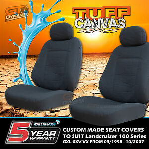 TUFF CANVAS CUSTOM SEAT COVERS to Suit Toyota Landcruiser 100 Series 3 ROWS GXL