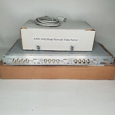 Axis 291 1u Video Server Rack With 2 Encoder Blades Q7406 243q