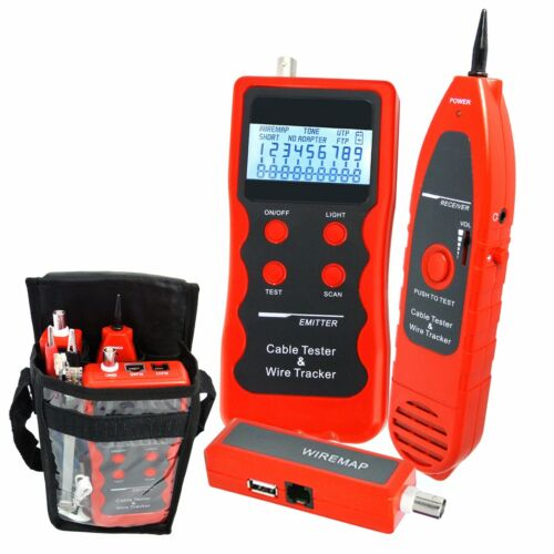Network LAN Phone Cable Tester Wire Tracker Cat.5E// 6E UTP STP NEW