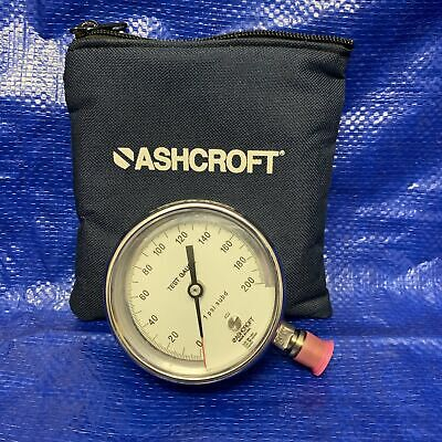 Ashcroft 200 Psi 316 Ss Test Gauge With Pouch