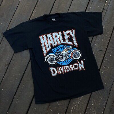Vintage Harley Davidson T Shirt Size L Officially Licensed Fun Wear Clean RARE