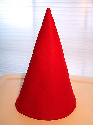 Red Gnome Elf Dwarf Birthday Party Gift Hat Faerie Fest Mardi Gras Caps! NEW! - Red Party Hat