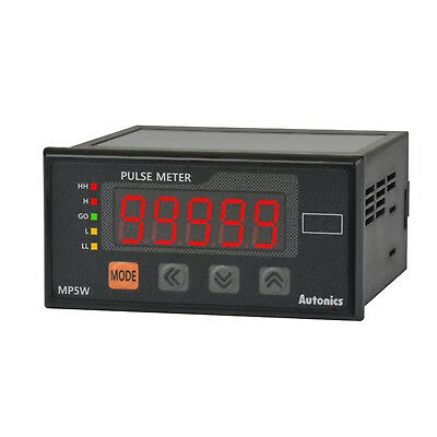 Autonics Mp5w-4n Digital Pulse Meter Indicator 96x48 100240vac