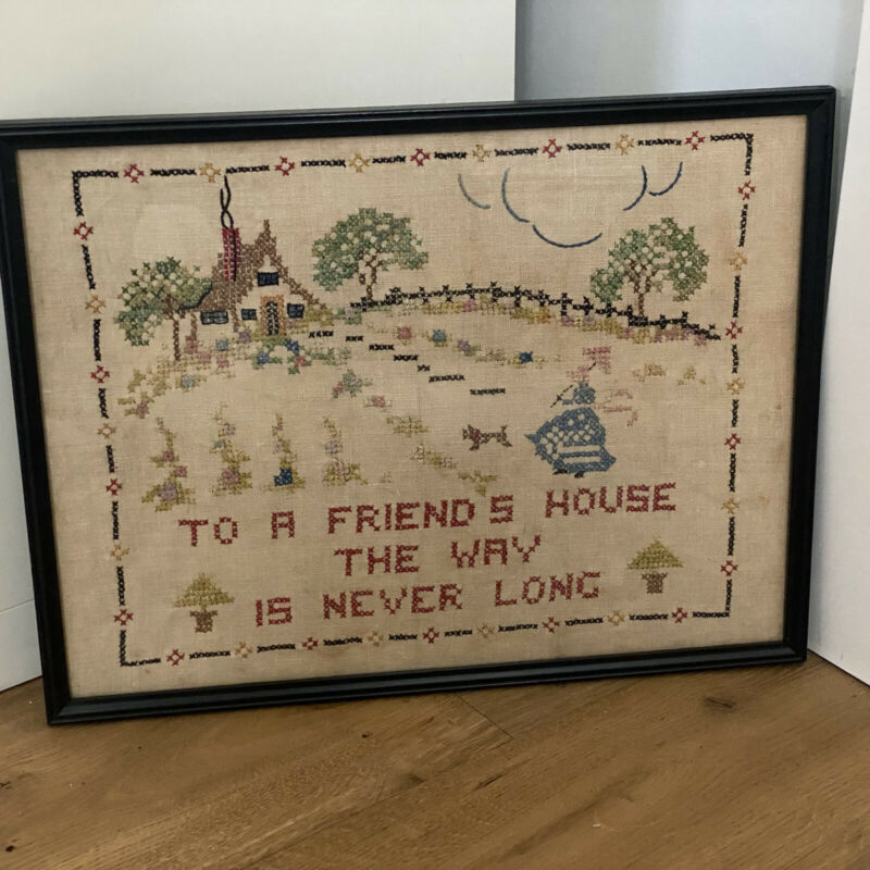 "Vintage Needlepoint  ""To a Friend"