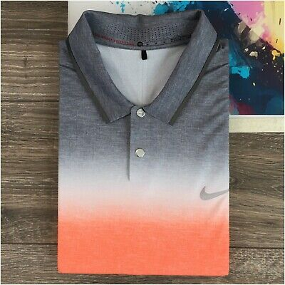 Tiger Woods Collection Mens Golf Polo Shirt Size M Short Sleeve Dri Fit Stretch