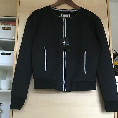 BNWT Authentic Hoxton Haus Black Roxy Bomber Jacket With Front Zip - Size XS