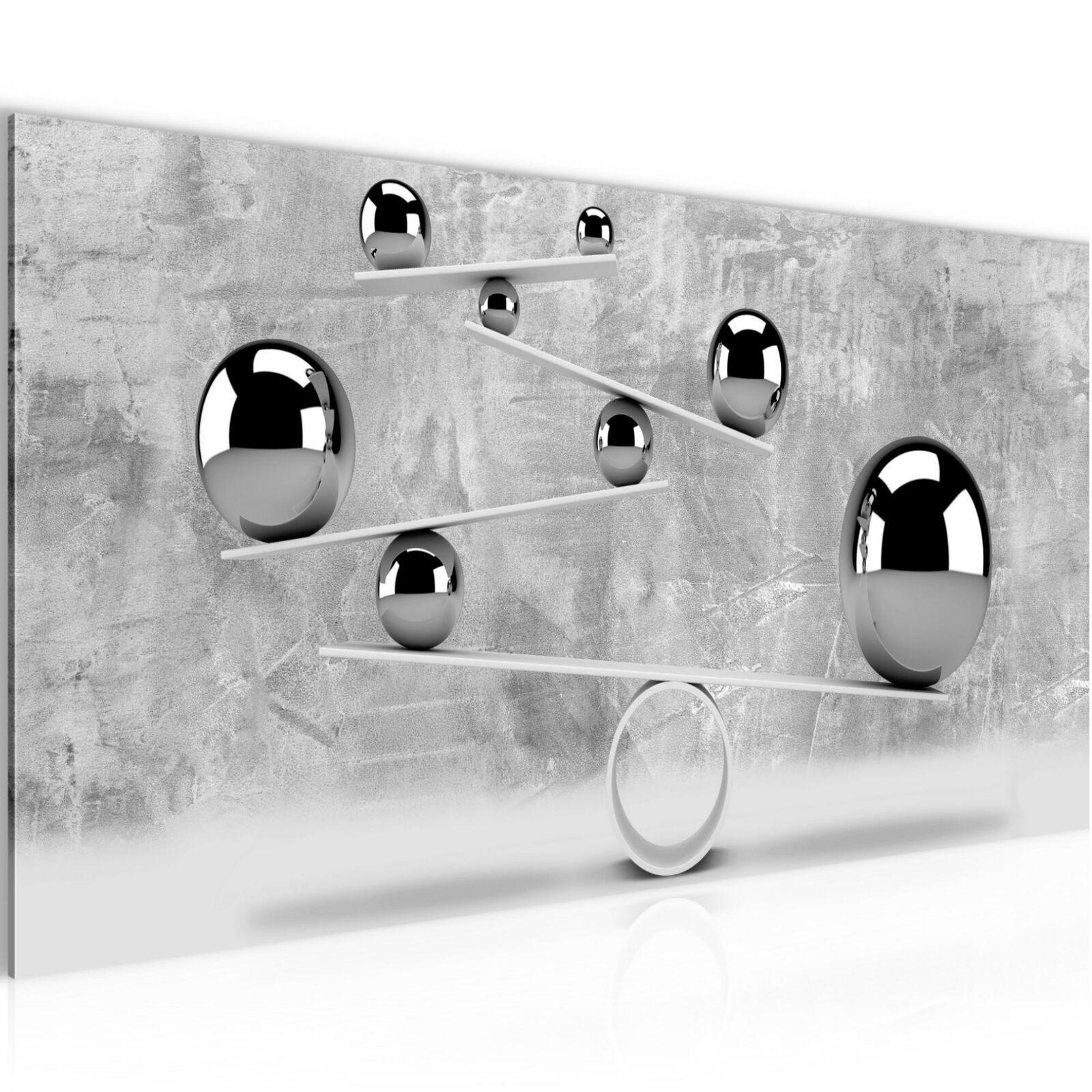 Wandbilder XXL Abstrakt Kugeln - 100x40 cm Bild Bilder Vlies Leinwand Modern