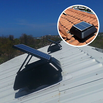 Solar Powered Roof Mount Adjustable Attic Fan with 20W Polycrystalline 1750 CFM