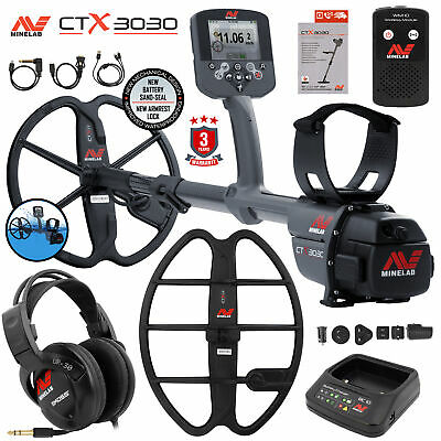 Minelab Ctx 3030 Underwater Detector Holiday Bundle With 17 Dd Smart Coil