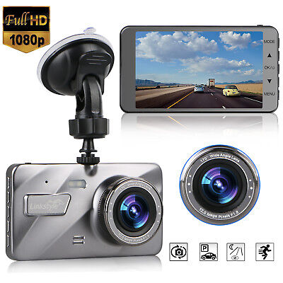 "1080P 4"" Vehicle Car Dashboard DVR Camera Video Recorder Dash Cam G-Sensor NEW"
